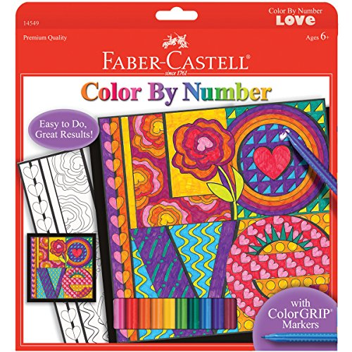 Faber-Castell - Color By Number Love Art Kit - Premium Kids Crafts - 1