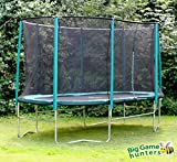 8ft x 14ft Skyhigh Oval Trampoline with Safety Enclosure (Superior bounce. Doesn't pull user into centre of mat.)