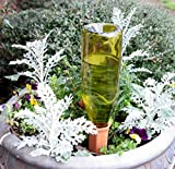 Planted Perfect Vacation Watering - 4 Plant Water Spikes For Plants and Flowers - Recycled Wine Bottle Watering System - Safer Packaging - Satisfaction Guarantee!