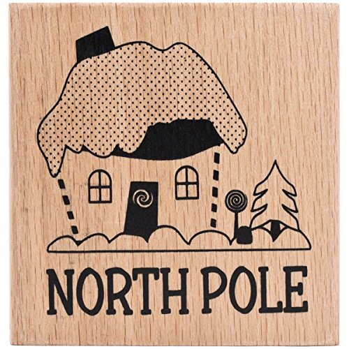 American Crafts Wood Stamp International North Pole