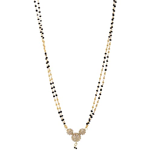 NNITS Traditional Black and Golden Non-Precious Metal Mangalsutra for Women (MSGD 0130140) available at Amazon for Rs.140