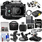 Veho Muvi K2 Wi-Fi HD Video Action Camera Camcorder & 100m Underwater Housing + 32GB Card + Suction Cup, Handlebar & Wrist Mounts + Battery + Torch + Case Kit