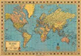 Map of the World Poster Print Vintage Look 20&quot;x28&quot;
