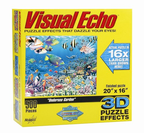 Cheap Hobbico Visual Echo 3D Effect Undersea Garden 500pc Puzzle (B000FVC58Y)