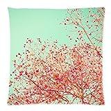 Tree art large print coral nursery art mint nursery decor girl nursery prints pink Throw Pillow Case Cushion Covers Square 18x18 Inch