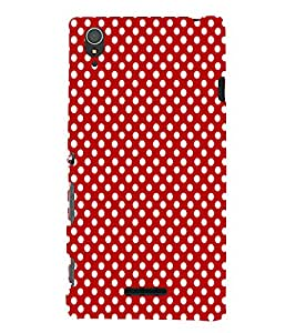 EPICCASE cute dots Mobile Back Case Cover For Sony Xperia T3 (Designer Case)