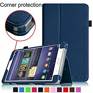 Fintie Samsung Galaxy Tab 4 NOOK Folio Case - Slim Fit Premium Vegan Leather Cover for NOOK 7-Inch Tablet (2014 Release) by Barnes & Noble, Navy
