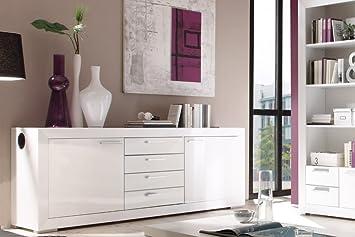 sideboard melody inklusive soundanlage hochglanz wei modoform dee73. Black Bedroom Furniture Sets. Home Design Ideas