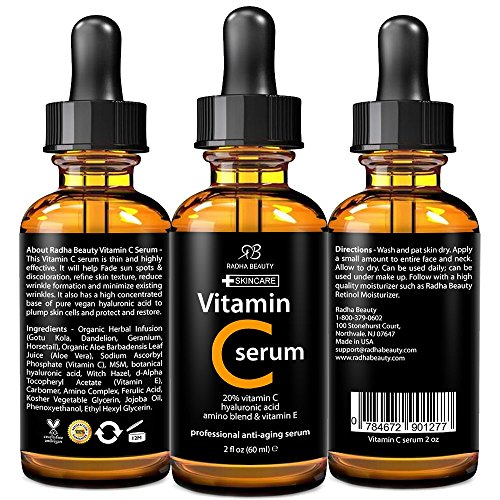 BEST-VITAMIN-C-Serum-for-Face-2-fl-oz-20-organic-Vit-C-E-Hyaluronic-Acid-Professional-Facial-Skin-Care-Formula-that-helps-Repair-Sun-Damage-and-Fade-Age-Spots-Radha-Beauty
