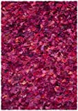 Safavieh SG951F Shag Collection Area Rug, 5-Feet by 8-Feet, Fuchsia/Purple/Multi