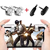 Mobile Game Controller/Shoot and Aim Keys /L1R1 and Gamepad for PUBG/Fortnite (1Pair+1Gamepad) (Color: natural color, Tamaño: 1)