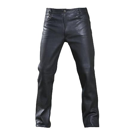 Germas 930 Jean pour homme en cuir de haute qualité Premium, sans coutures à l'avant sur les genoux