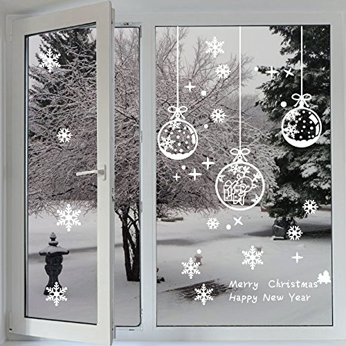 fensterbilder profer statisch haftende pvc sticker schneeflocken tannenbaum hirsch weihnachten. Black Bedroom Furniture Sets. Home Design Ideas