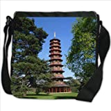 Pagoda In Kew Gardens London Small Denim Shoulder Bag / Handbag