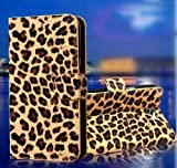 Wallet Leopard Skin Flip PU Leather Pouch Stand Case Cover For Motorola DROID RAZR XT912 Xt910
