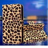 Wallet Leopard Skin Flip PU Leather Pouch Stand Case Cover For BLU Studio 5.0 D570A by wilsontse