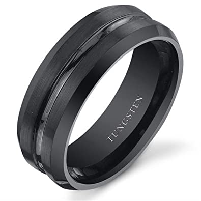 mens tungsten carbide non wedding rings