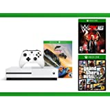Xbox One S 500GB Console - Forza Horizon 3 Hot Wheels Console Bundle + Grand Theft Auto V + WWE 2K16 Bundle ( 3 - Items )