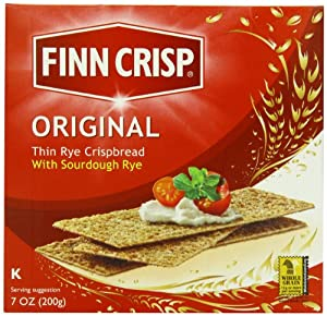 Finn Crisp Original, Delicately Thin Rye Crispbread, 7-Ounce Boxes (Pack of 9)