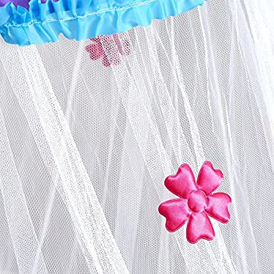 Princess Bed Canopy - Beautiful Rainbow Childrens Bed Canopy With Coloured Flowers - Quick and Easy To Hang Girls Bedroom Accessories - Perfect Gift for Girls, Daughters and Granddaughters