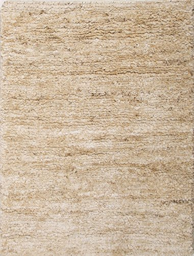 Jaipurrugs Naturals Solid Pattern Hemp Ivory/White Antigua Rectangle Area Rug Border Color Cloud White 3.6X5.6 front-255488