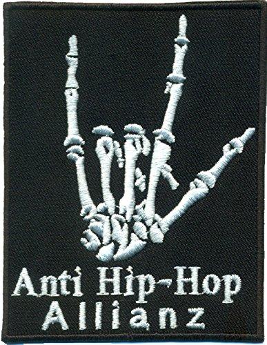anti-hip-hop-allianz-heavy-metal-bones-skelett-hand-rocker-aufnaher-sticker-patch