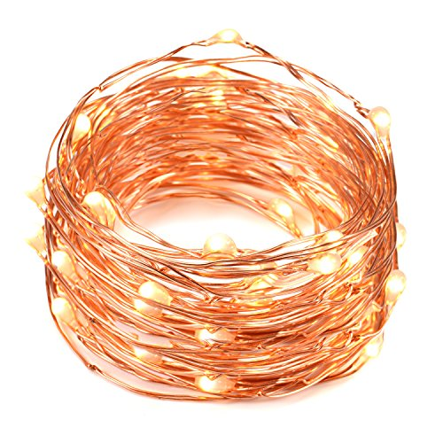 Copper Wire LED String Lights, Oak Leaf 2 Set of Micro 30 LEDs Starry Lights,4.9 Ft (1.5m) for DIY,Home,Party,Wedding Centerpiece or Table Decorations (Warm White)