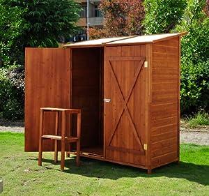 Outsunny casetta per esterno in legno ripostiglio da giardino armadio esterno 159x125x65 - Ripostiglio per terrazzo ...
