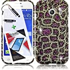 3 in 1 Bundle Samsung Galaxy Ace Style S765C Crystal Diamond Graphic Design Rubberized Case - Purple Leopard with Free Ultra-Sensitive Stylus Pen and Premium Screen Protector by BeautyCentral TM