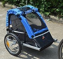 Aosom Elite-Jr Single Child Bicycle Trailer - Blue / Black