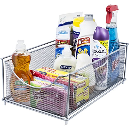 Sorbus Cabinet Organizer Drawer- Silver Mesh Storage Organizer with Pull Out Drawers-Ideal for Countertop, Cabinet, Pantry, Under the Sink, Desktop and More (Top Drawer) (Pull Out Countertop compare prices)