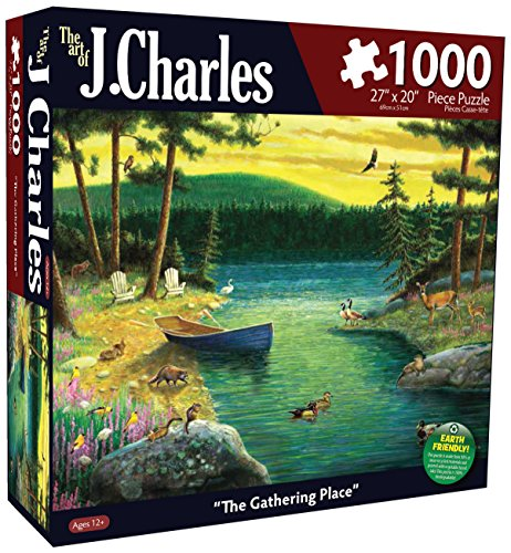 Karmin International J. Charles The Gathering Place Puzzle (1000-Piece)