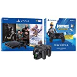 2019 Newest Playstation 4 Holiday Bundle- Only on Playstation PS4 Console Slim Bundle - Included 3X Games, Playstation 4 Fortnite DualShock 4 Wireless Controller w/HESVAP Charging Station Dock