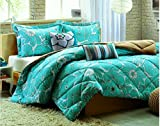 Super India Printed Micro Fiber Double Bed Comforter/Quilt set with two pillow cases (Dove)