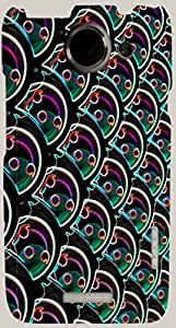 Prominent multicolor printed protective REBEL mobile back cover for HTC One X+ ( X Plus ) D.No.N-R-6168-htcX