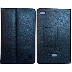 IndiSmack PU Leather Flip Case Cover cum Stand for iBall Slide Q27 10 inch Tablet- Black