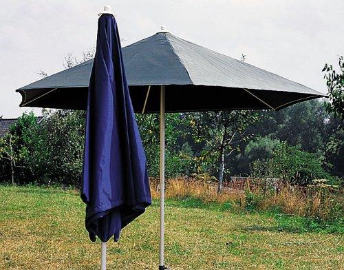 Sonntex ART-Schirm Polyester 250/6-tlg. silberner Alu Unterstock, Bezug blau günstig