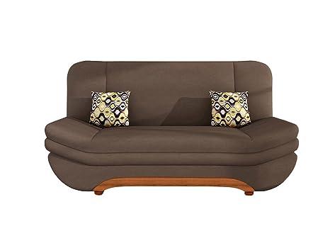Sofa Weronika Grand mit Bettkasten und Schlaffunktion, Schlafsofa, antibakterieller Stoff, Couch vom Hersteller, Wohnlandschaft (Granada 2732 + Amber 73)