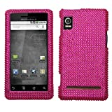 Rhinestones Hard Case Motorola Droid 2 Hot Pink
