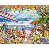 White Mountain Puzzles Happy Hour Puzzle - 1000 Piece Jigsaw Puzzle