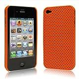 iPhone  4  ケース ハードプラスチック  オレンジ 液晶保護フィルム   USB充電ケーブル付 送料無料