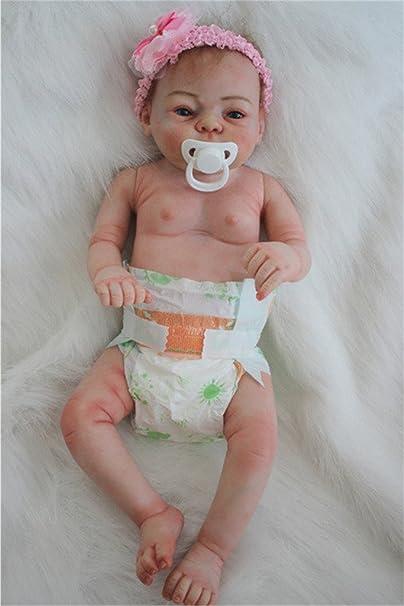 Terabithia 20 pouces Rare Alive Silicone Vinyl Full Body Waterproof Nouveau née bébé Fille Poupées
