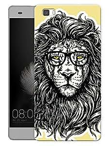 "Humor Gang King Jungle Enhanced Printed Designer Mobile Back Cover For ""Huawei P8"" (3D, Matte, Premium Quality Snap On Case)"
