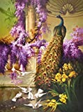 Oil Painting 'Peacock And Doves In The Garden' Printing On Perfect Effect Canvas , 8x11 Inch / 20x27 Cm ,the Best Garage Decor And Home Artwork And Gifts Is This Cheap But High Quality Art Decorative Art Decorative Canvas Prints