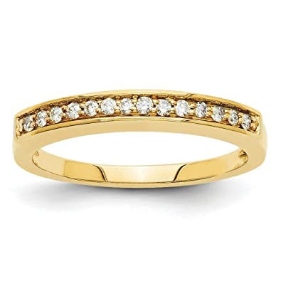 14ct Gold Diamond Wedding Band Ring