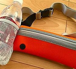 Norph ペットボトル iPhone6 Plus 収納可! ランニング ウォーキング用 ポーチ コンパクト 軽量 スマホ 防水 ウエストポーチ サイクリング ランニングポーチ (オレンジ)