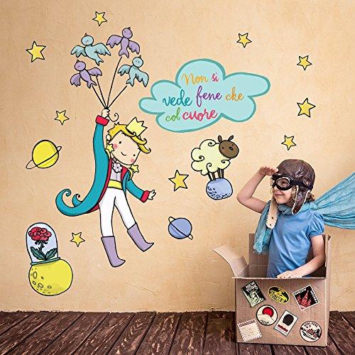 R00157 adesivo murale per bambini wall art   il piccolo principe ...