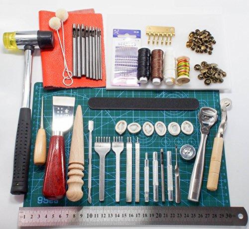 レザークラフト 工具 38点 エントリーセット ポンチ 9本つき 道具 一式 (道具セット)