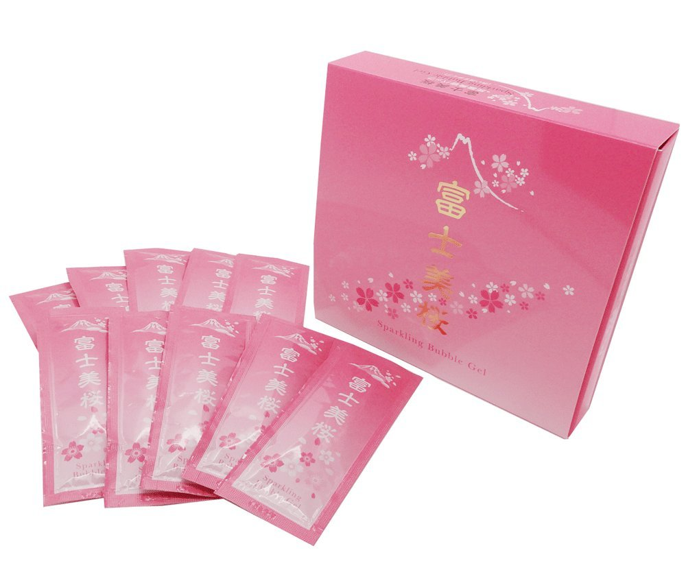 富士美桜 炭酸パック 10g×10袋入り ジェルパック 1袋使い切り 洗い流すタイプ »