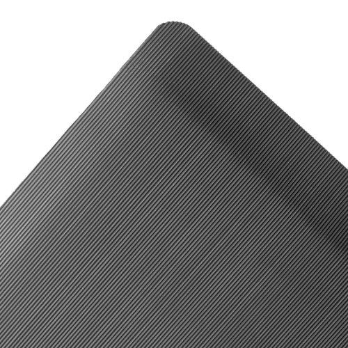 NoTrax Rubber 974 Ergo Mat Grande Anti-Fatigue Mat, for Dry Areas, 3′ Width x 5′ Length x 1″ Thickness, Black